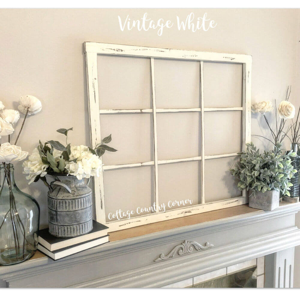 Vintage White Window Frame