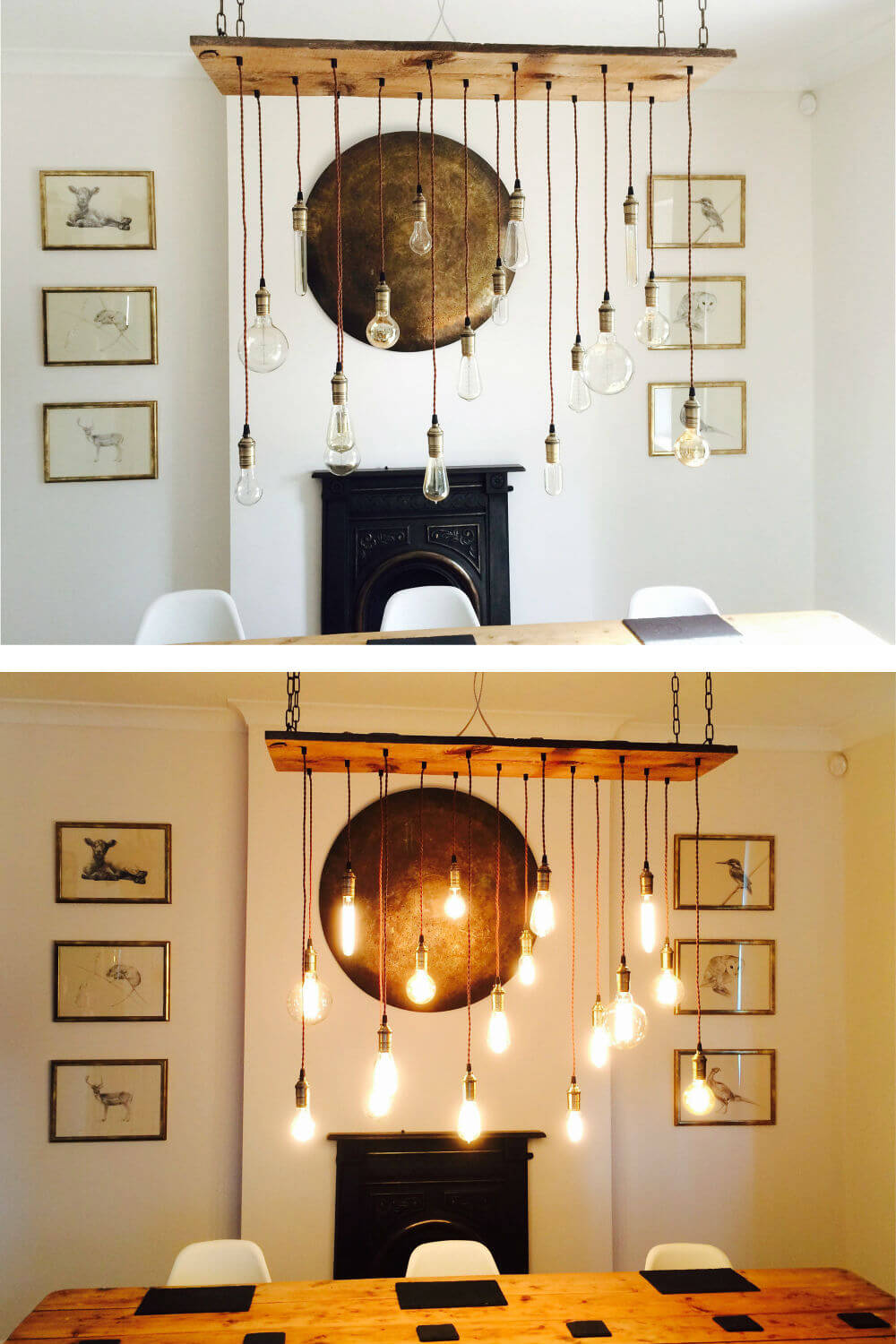 Seventeen Lights Illuminate This Rustic Chandelier