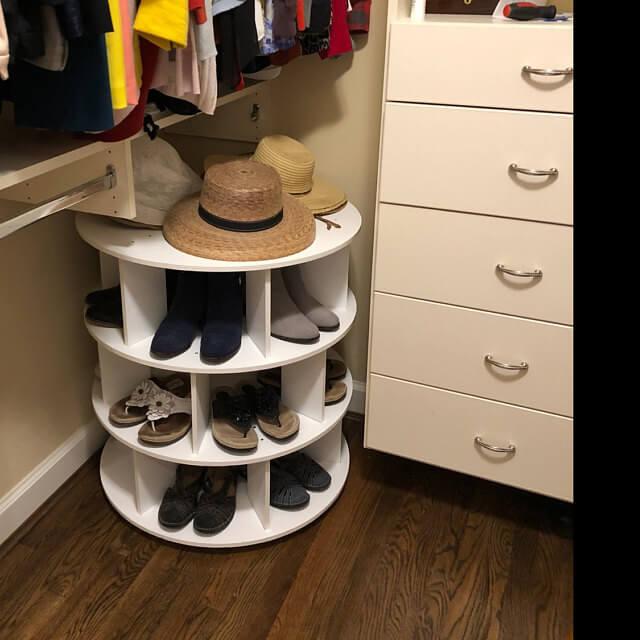 Revolving Round Shoe Rack Arranger