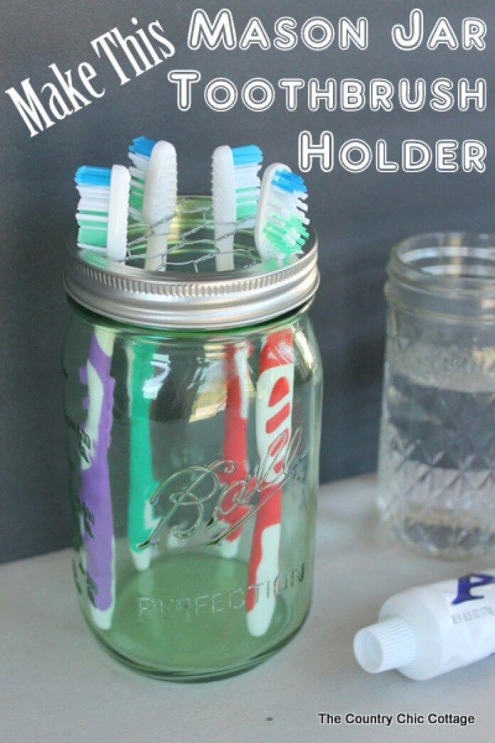 32 Creative Mason Jar Organizer Ideen, um auf charmante Weise Platz zu sparen