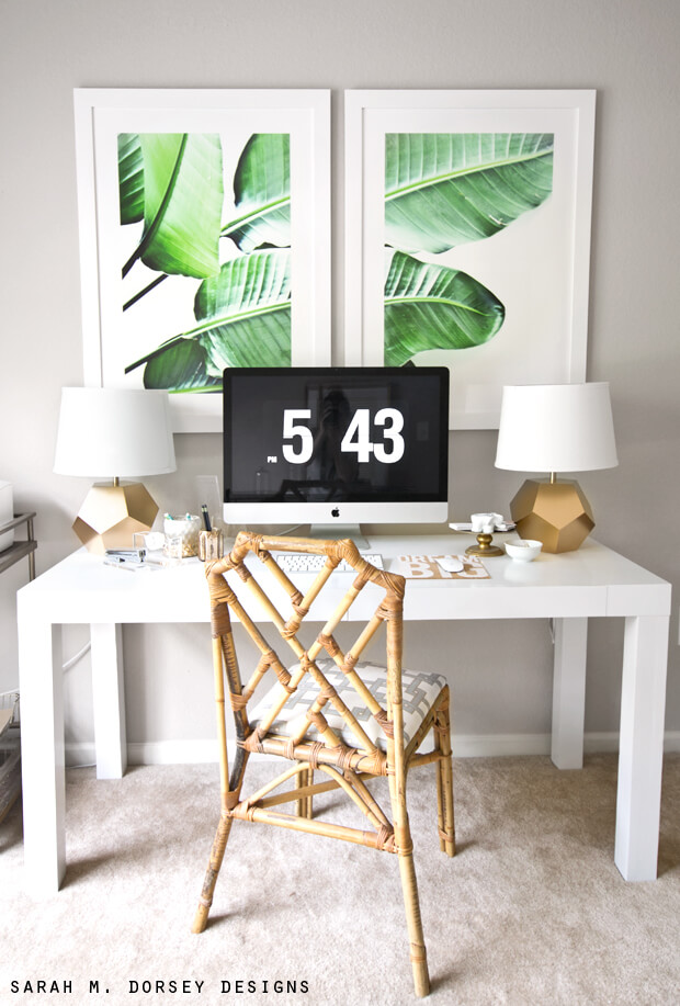 Crisp Tropical Vibe With Bamboo, Gold, and White