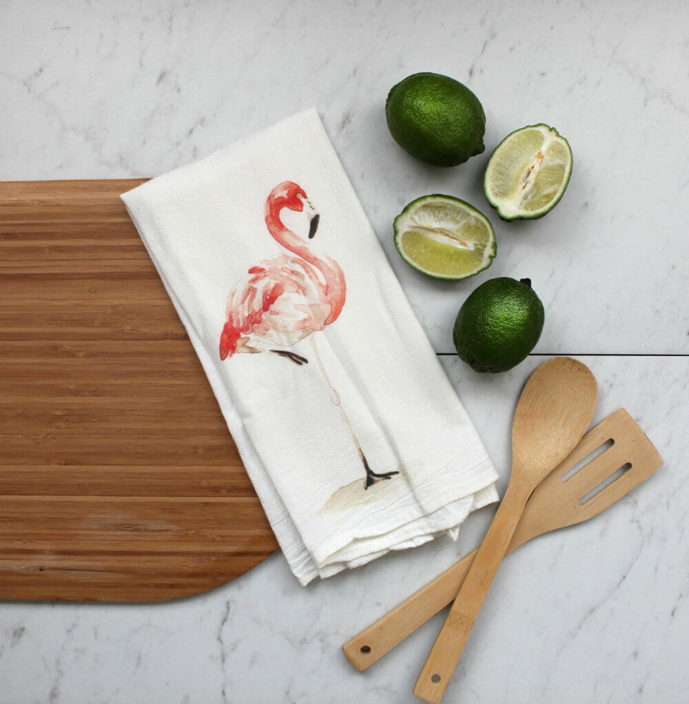Sweet Flamingo Kitchen Towel