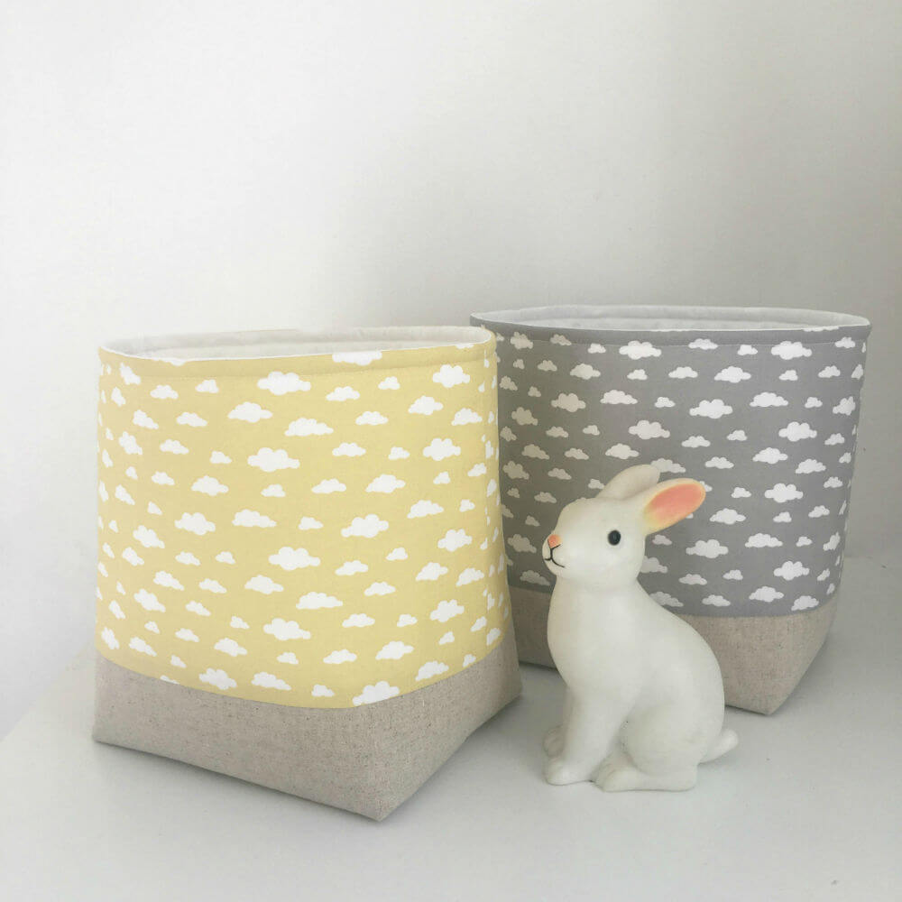 Simple Yellow Cloud Fabric Storage Container