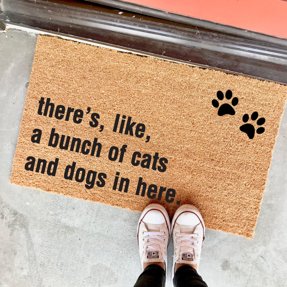 Dogs and Cats Make Your Guests Welcome