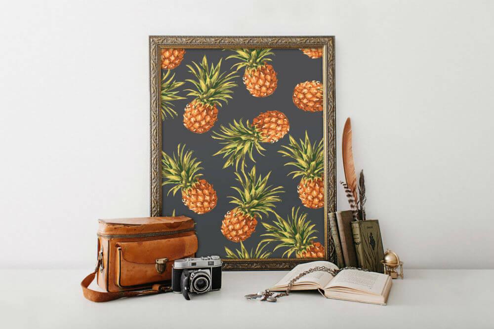 Fun Kitchen Pineapple Print