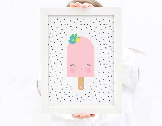 Girly Popsicle Print