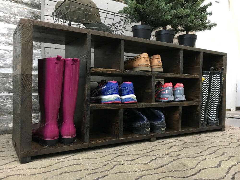 Warm and Welcoming Shoe Organizer Bench