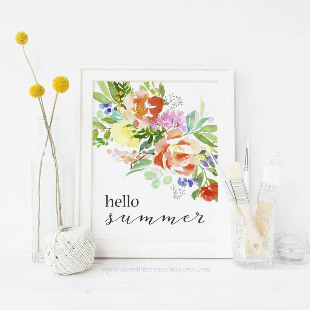 875d548ad2a 34 Best Etsy Summer Decor Ideas to Buy in 2019