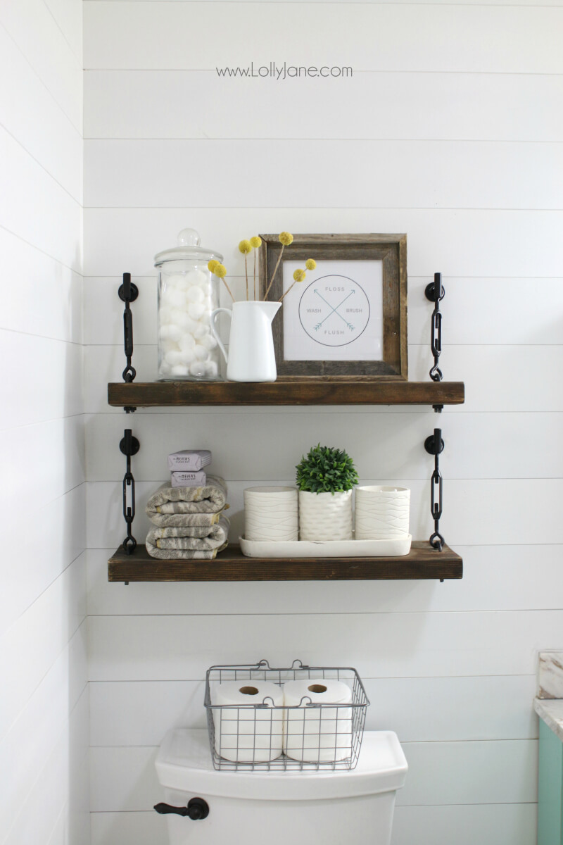 bathroom shelf ideas 45 best hanging bathroom storage ideas for 2018 12462