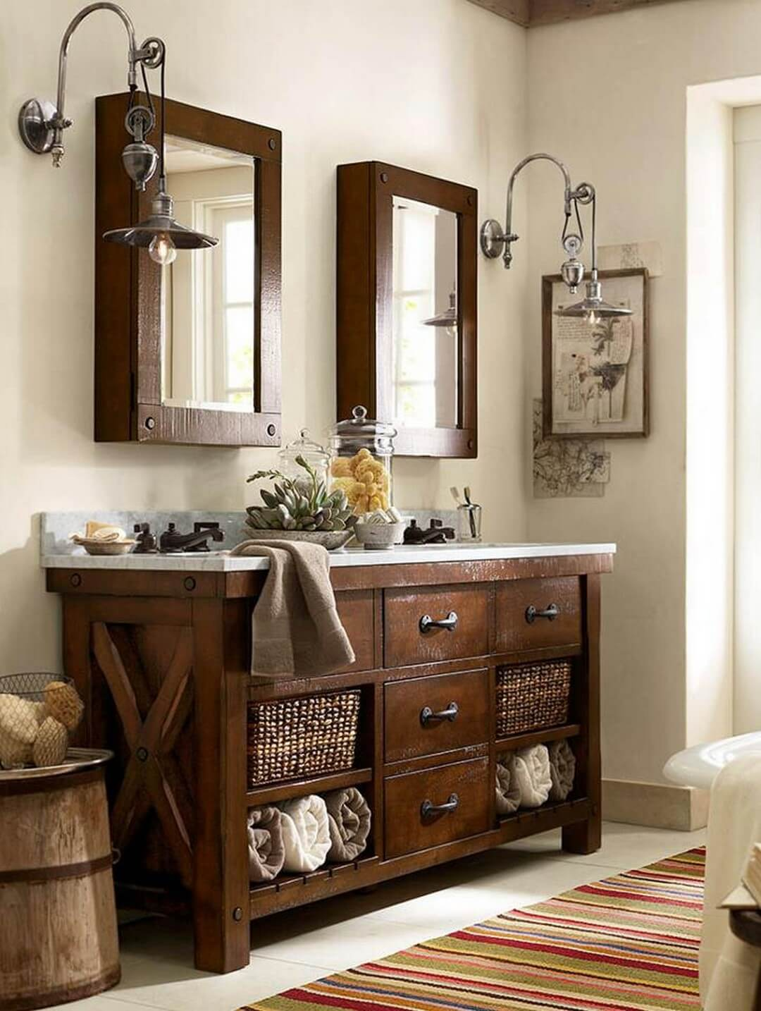 Dark Wood Bathroom Idea