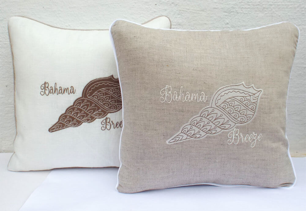 Customizable Sea Shell Pillow