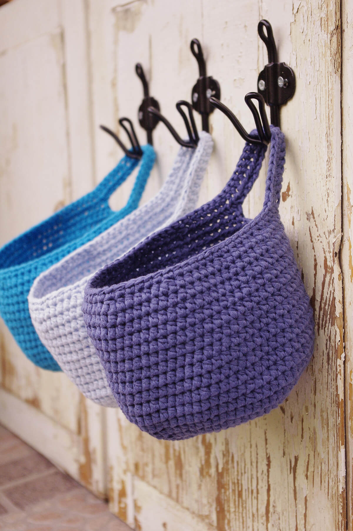 Coat Rack and Crochet Basket