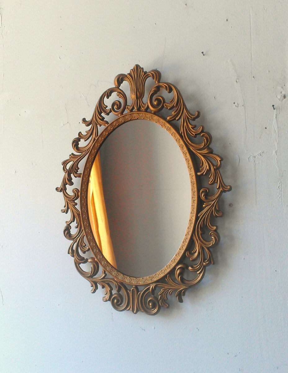 Intricately Decorated Baroque Mirror
