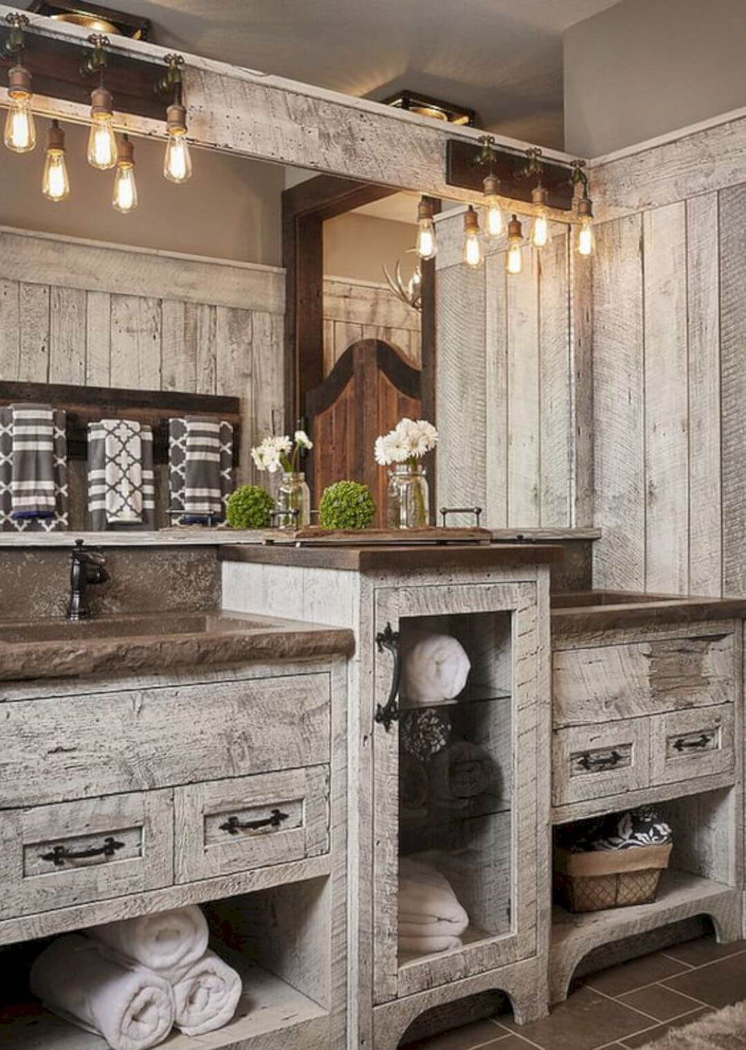 35 Best Rustic Bathroom Vanity Ideas And Designs For 2020