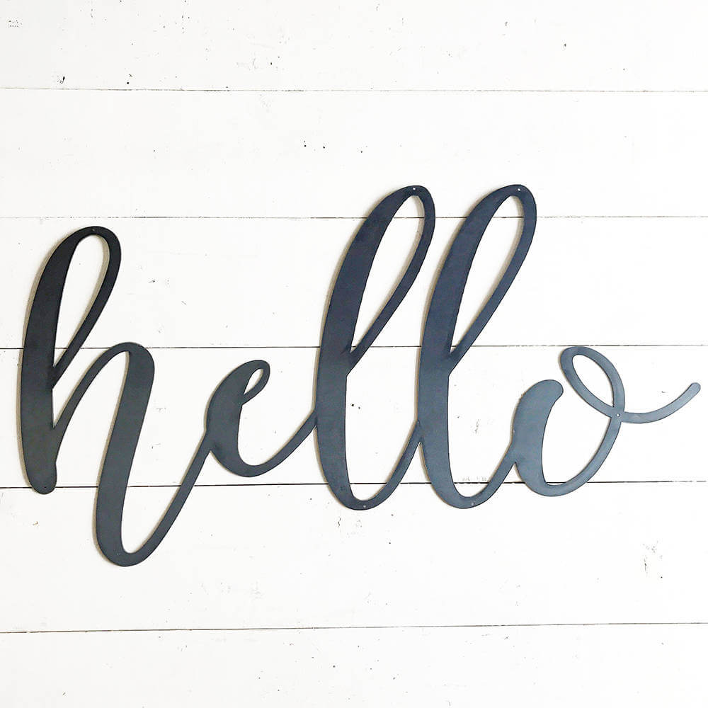 Greet Guests with a Metal Hello Sign