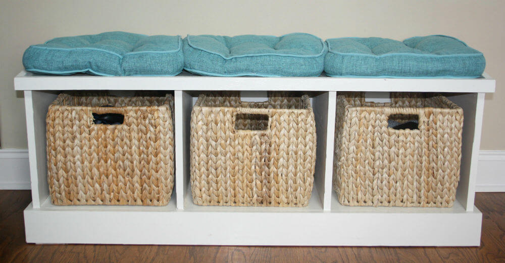 Comfy Bench with Built-In Cubby Space