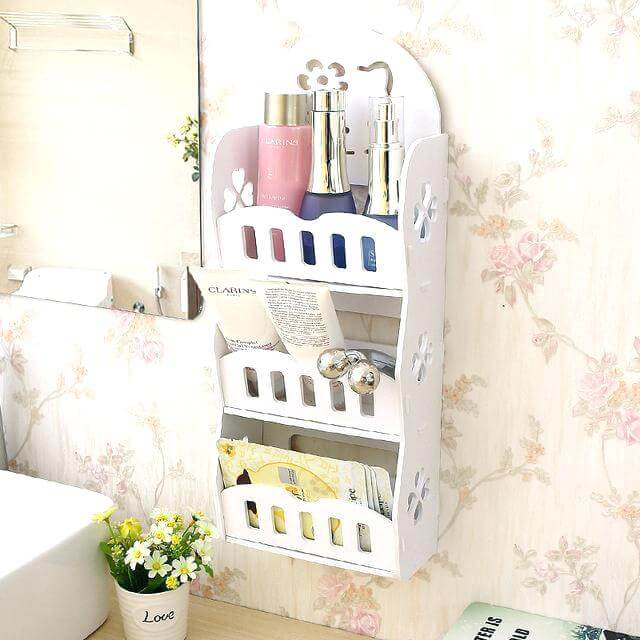 Simple Enclosed Shelf for Tiny Bathrooms