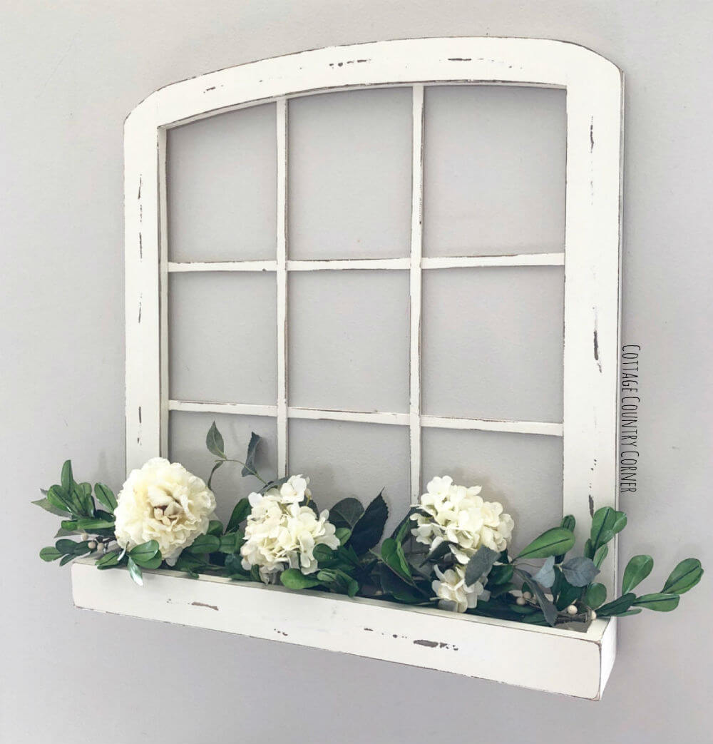 Arched Window with a Planter Box
