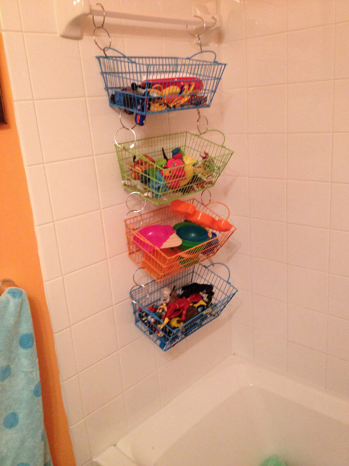 Wire Basket and Suction Cup Shower Storage