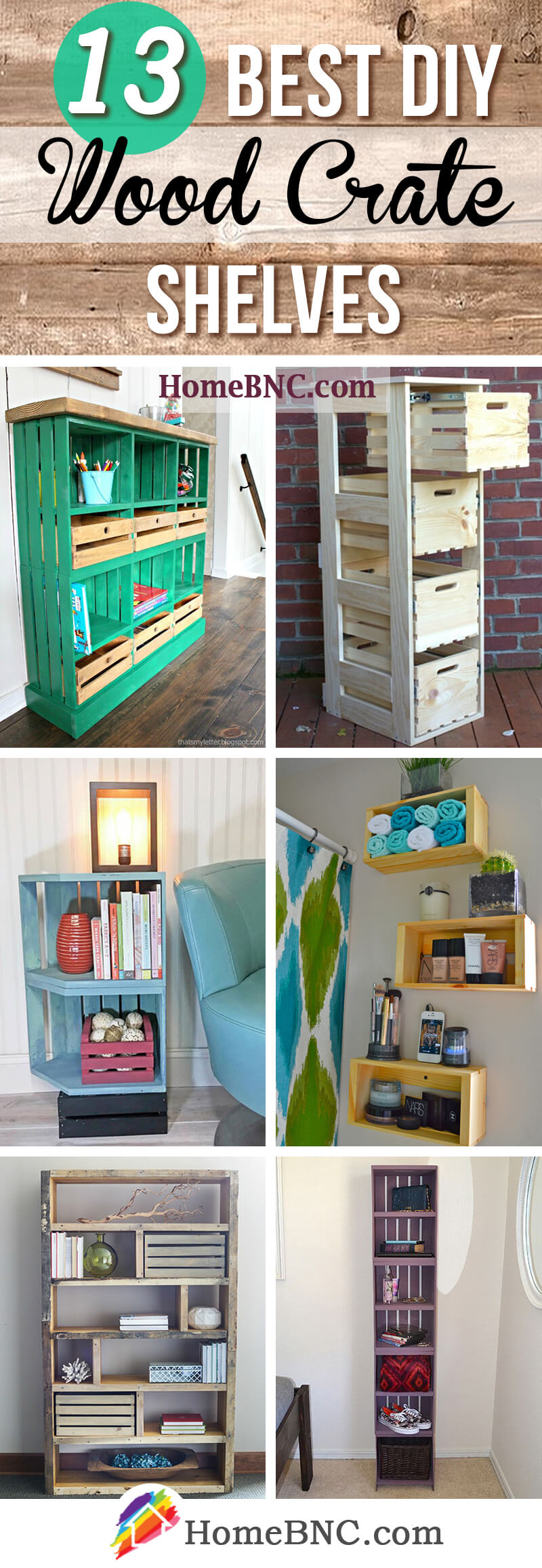 13 Practical DIY Wood Crate Shelves To Add Functionality Your Space