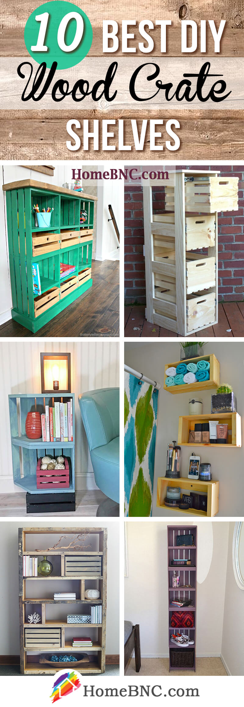 DIY Wood Crate Shelve Ideas