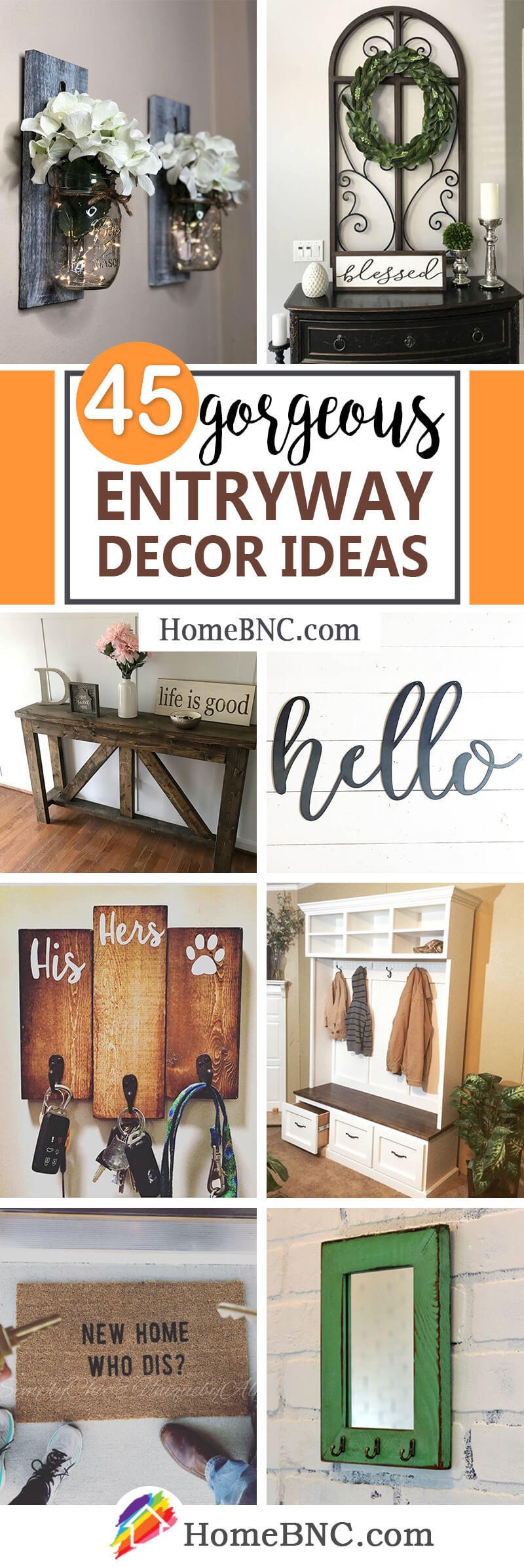 Entryway Decor Ideas from Etsy