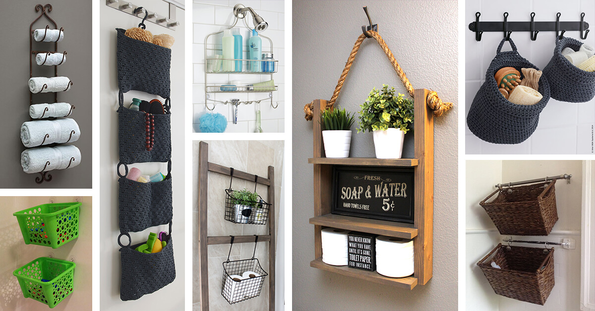 45 Best Hanging Bathroom Storage Ideas For 2021