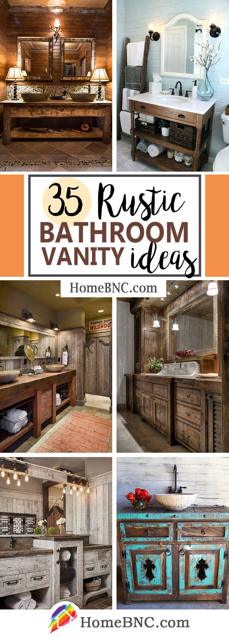 Rustic Bathroom Vanity Ideas