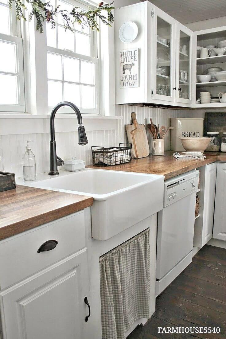 Crisp And Clean White Wash Kitchen