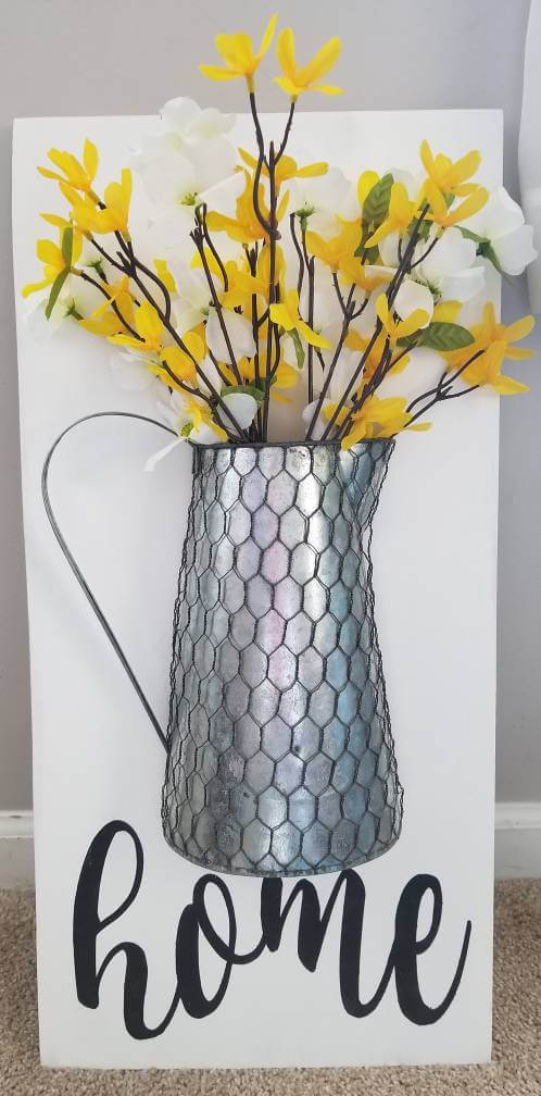 Chicken Wired Rustic Farmhouse Mounted Vase