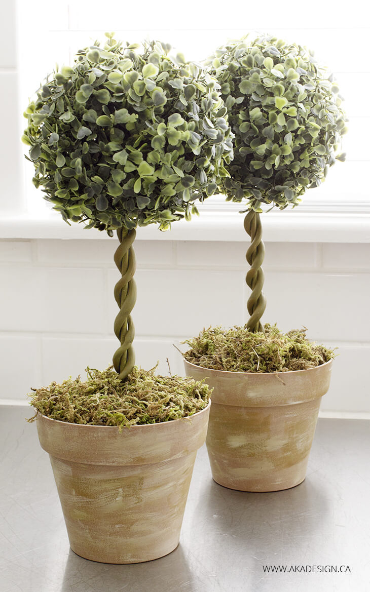 Easy DIY Farmhouse Topiary Trees