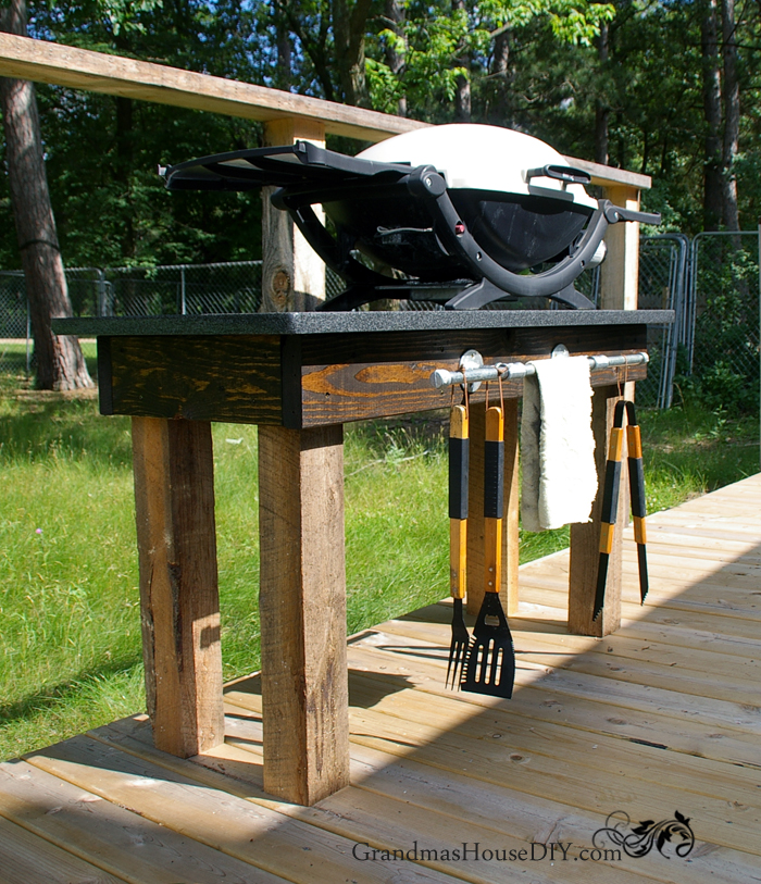 Repurpose Old Furniture for This Attractive Grill Station