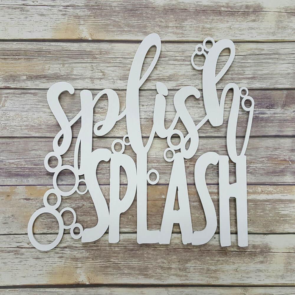 Splish Splash Bathroom Decor Sign