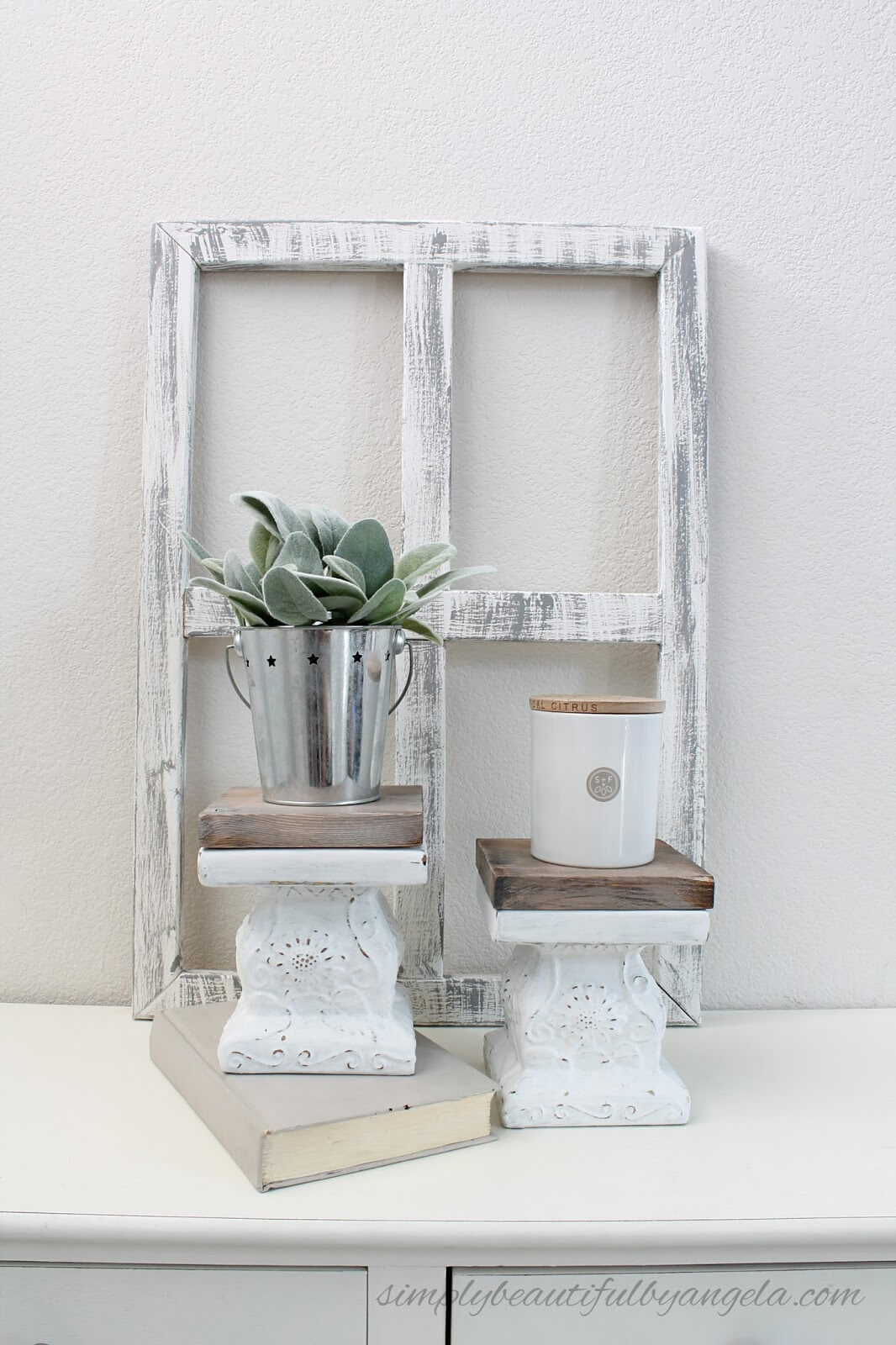 Easy Repurposed Dollar Store Pedestals