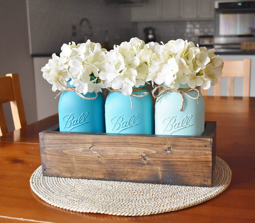 Coastal Farmhouse Mason Jar Centerpiece