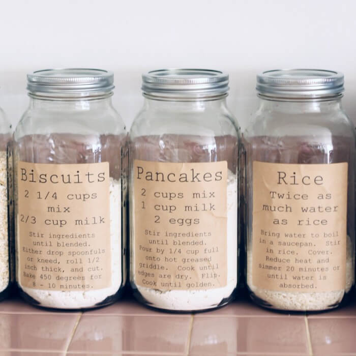 Rustic Themed Recipe Food Jars