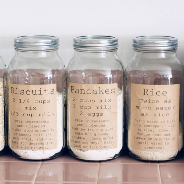 Rustic Themed Recipe Food Jars