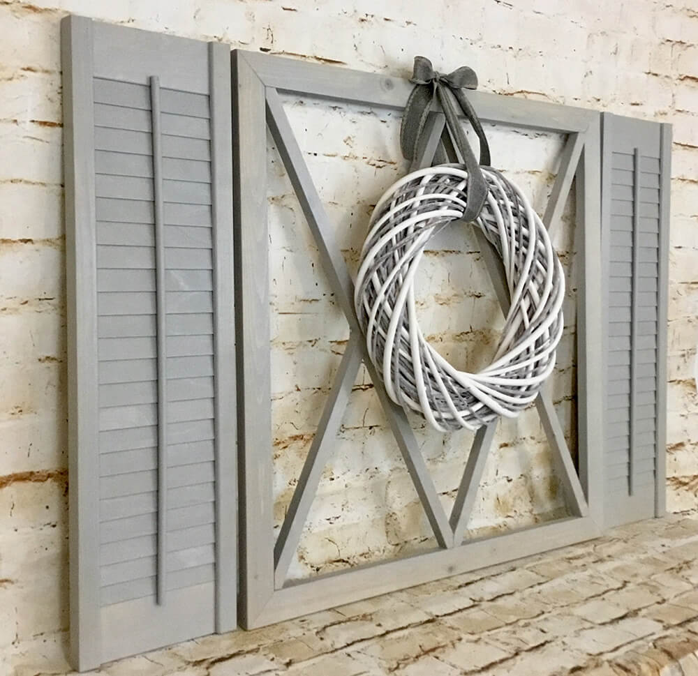 Farmhouse Coastal Window Shutter Display