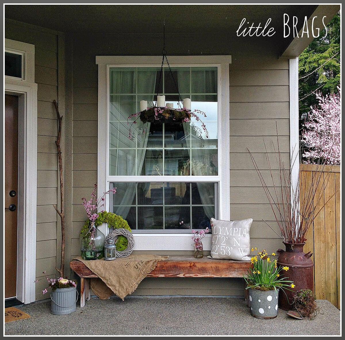 Pretty Spring Farmhouse Porch Inspiration