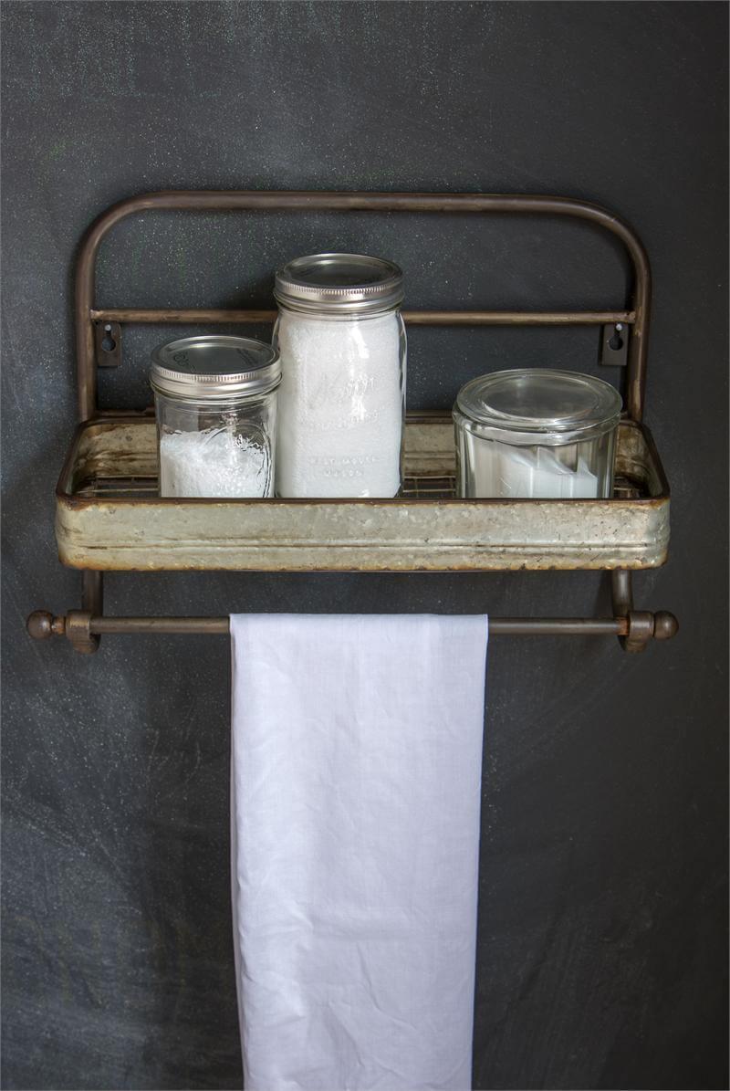 Industrial Style Metal Bathroom Towel Holder