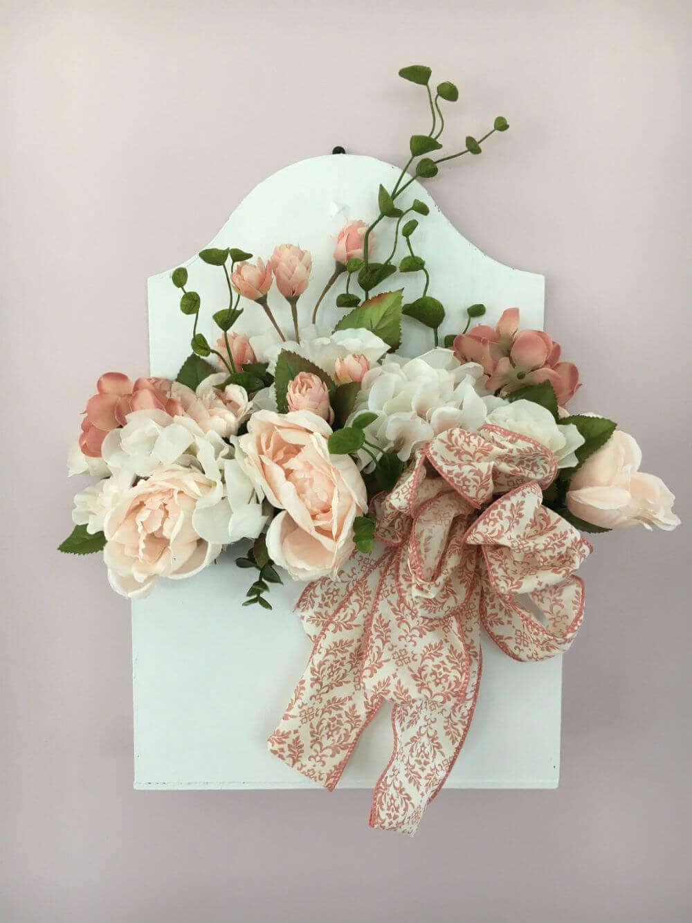 A Delicate Silk Flower Farmhouse Box