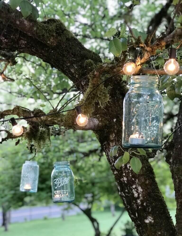 Mason Jar Lantern Outdoor Lighting