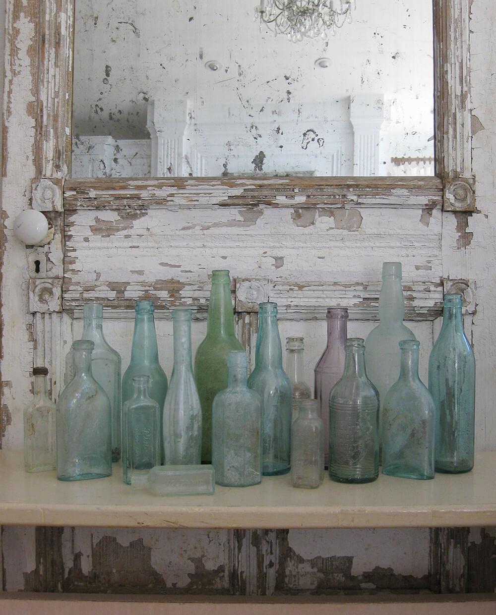 Set of Vintage Glass Bottles