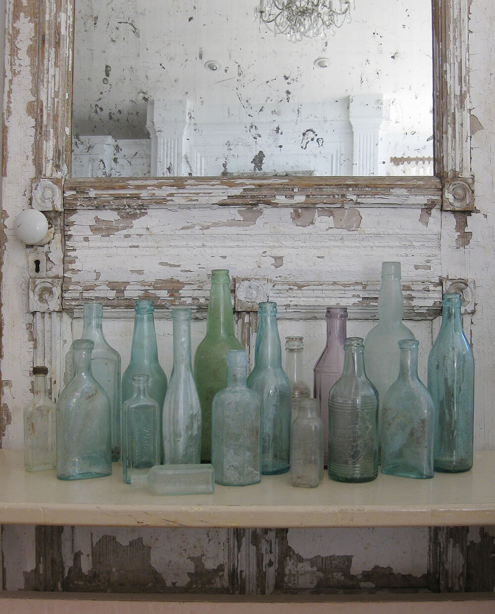 Set of Vintage Glass Bottles