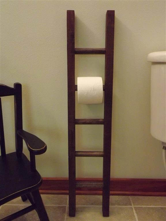 Rustic Ladder Toilet Paper Holder