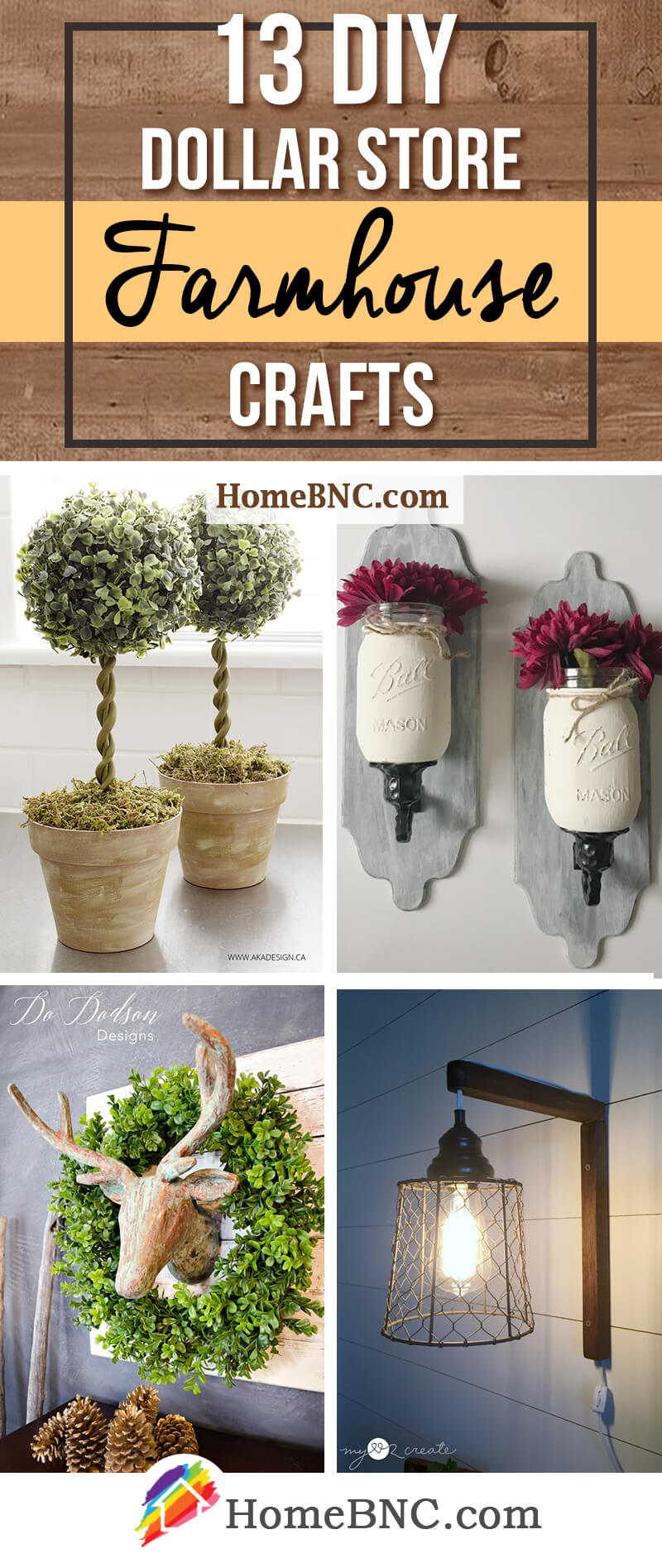 DIY Dollar Store Farmhouse Decor Ideas