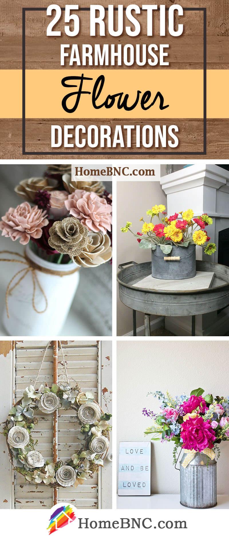 Farmhouse Flower Decoration Ideas