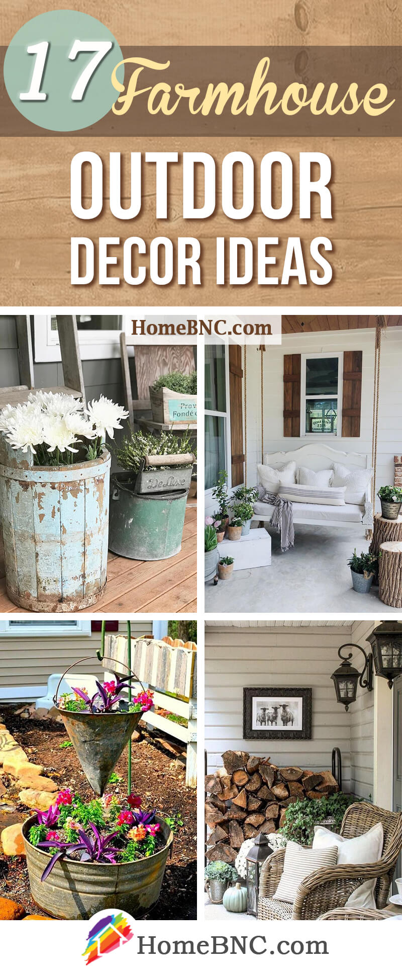 17 Best Farmhouse Outdoor Decor Ideas And Designs For 2021