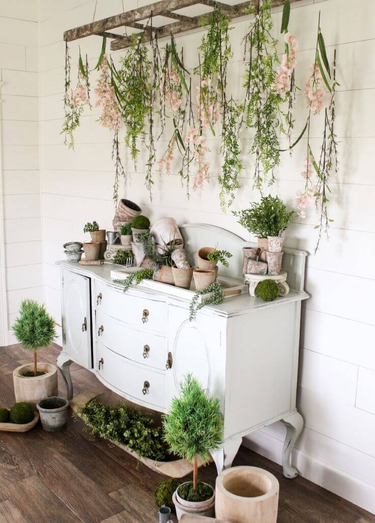 Whimsical and Romantic Hanging Floral Display