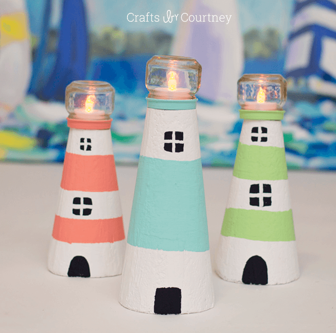 Summery and Sweet Foam Lighthouse Décor